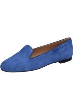 Chaussures Bally mocassins bleu daim BY10(115400843)
