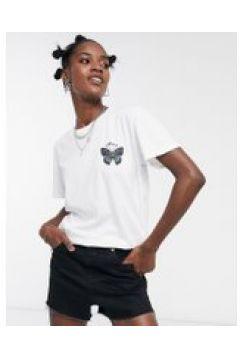 Obey - T-shirt oversize con logo a farfalla-Bianco(120382422)