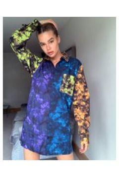The Ragged Priest - Vestito camicia corto oversize tie-dye colour block-Multicolore(120330106)