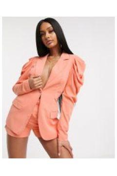 Lavish Alice - Blazer con spalle arricciate arancione(120385829)