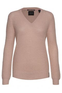 V-Neck Pull With Lurex Strickpullover Pink SCOTCH & SODA(114156208)