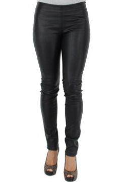 Collants Oakwood Pantalon Cindirella en cuir ref_cco40167-noir(115556819)