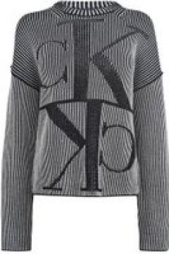 Calvin Klein Jeans Calvin Mirror Rib Crew Neck Jumper - CK BLACK(108568125)