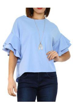 Blouses Cendriyon Tops Bleu Vêtements Femme(115594306)
