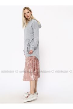 Cotton - Gray - Sweat-shirt - Missemramiss(110330934)