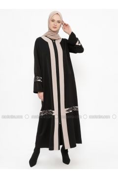 Black - Unlined - Crew neck - Abaya - Tekbir(110335645)