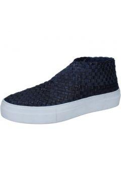 Chaussures E...vee E...slip on bleu cuir textile BY180(115400982)