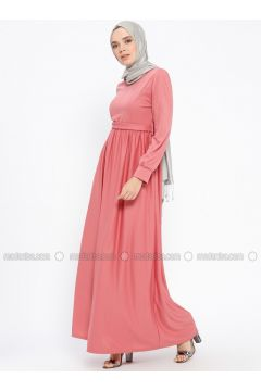 Dusty Rose - Crew neck - Unlined - Dresses - PINK APPLE(110313834)