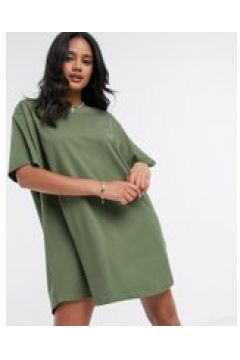 "Night Addict - Vestito T-shirt oversize con scritta \""Offline\""-Verde(120329071)"