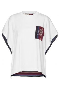 Hcw Foulard Tshirt, T-Shirt Top Weiß HILFIGER COLLECTION(114153053)