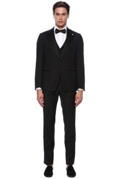 Lardini Erkek Siyah Yün Takım Elbise 54 IT(118330070)