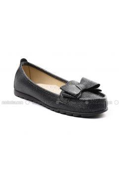 Black - Flat - Flat Shoes - Sapin(110325781)