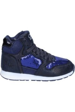 Chaussures enfant Solo Soprani fille sneakers bleu pourpre cuir synthétique paillettes BS38(115443327)