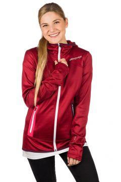 Ortovox Hooded Fleece Jacket rood(99220010)