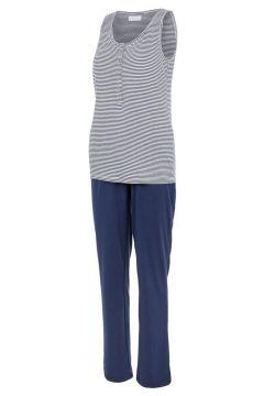 MAMA.LICIOUS Jersey Stillschlafanzug Damen Blau(117938231)