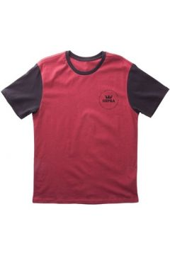 T-shirt enfant Supra Tee shirt INT SEAL PREMIUM TEE burgundy black(88678900)