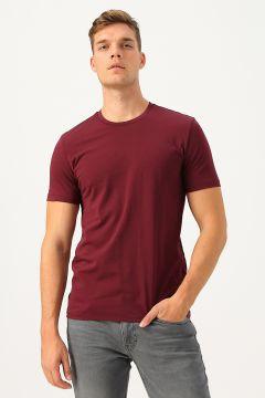 Pierre Cardin Bordo Baskılı T-Shirt(113989444)