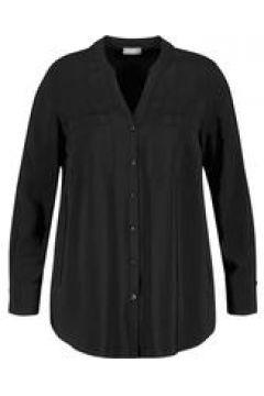 Bluse mit Brusttaschen Samoon Black(122847780)