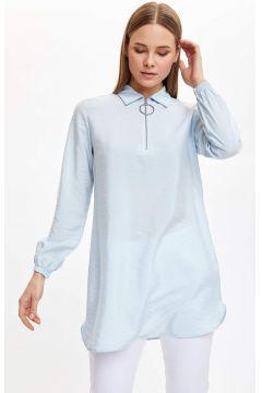 DeFacto Kadın Gömlek Yaka Fermuarlı Tunik(119059047)