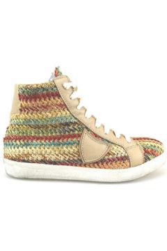Chaussures Crown sneakers multicolor textile cuir AG226(88469499)