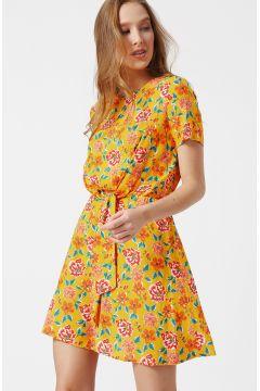 Koton Sarı Desenli Elbise(113982722)