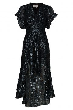 Robe Grace Kleid Knielang Blau BA&SH(109243164)
