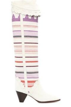 Isabel Marant Kadın Colorblocked Desenli Çizme Beyaz 36 EU(120138858)