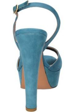 Sandales Olimpia sandales bleu cuir suédé AG591(115393493)