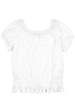 Camiseta bordada con hombros descubiertos, 10-16 años(114504276)