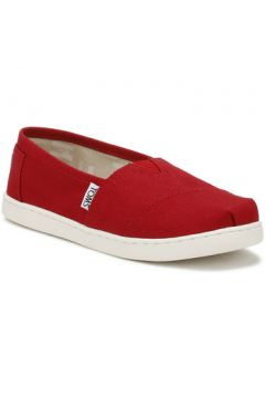 Chaussures enfant Toms Youth Red Canvas Classic Espadrilles-UK 1(101574411)