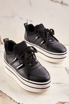 Bambi Siyah Kadın Sneaker(124206634)