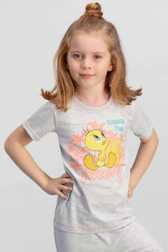 Looney Tunes Looney Tunes Lisanslı Krem Kız Çocuk T-Shirt(119158279)