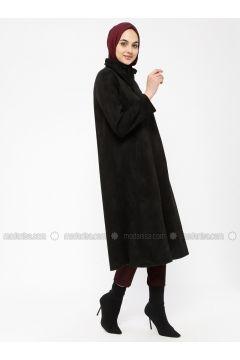 Black - Unlined - Polo neck - Topcoat - ECESUN(110322427)