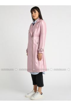 Pink - Fully Lined - Shawl Collar - Puffer Jackets - MOODBASİC(110339171)
