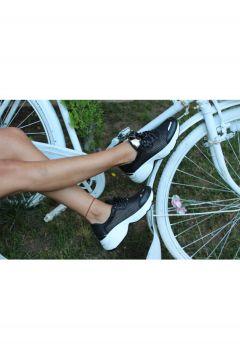 Dizzy Siyah Tüllü Bağcıklı Sneaker Ayakkabı(119319299)
