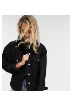 Reclaimed Vintage Inspired - Giacca di jeans oversize nera-Nero(120388794)