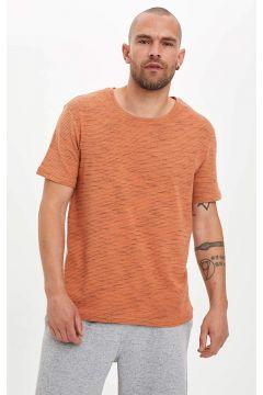 DeFacto Erkek Basic Bisiklet Yaka Pijama Üst T-shirt(119063612)