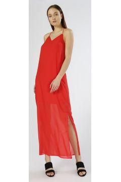 Vero Moda Sırt Detaylı Kırmızı Elbise(113958384)