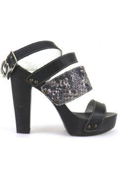 Sandales Braccialini sandales noir cuir textile AH386(115393316)