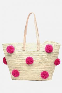 SALE -30 Etincelles - Panier artisanal Pompom Fuschia - SALE Handtaschen / rosa(111573957)