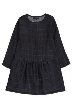 Karo-Kleid mit Knöpfen aus Lurex(113612338)