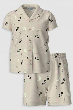 Çocuk Kız Çocuk Organik Pamuklu Pijama Takımı(126605214)