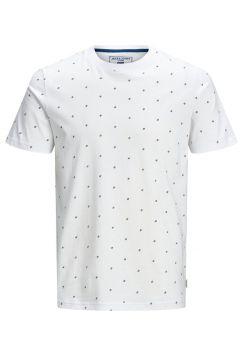 JACK & JONES All-over Printed T-shirt Men White(109139974)