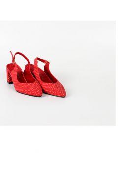 Park Moda Arkası Açık Bayan Yazlık Ayakkabı Puantiyeli Pm01 K921(114221170)