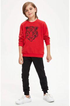 DeFacto Erkek Çocuk Kaplan Baskılı Sweatshirt ve Eşofman Altı Takım(125927024)