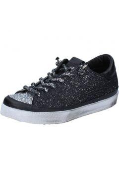 Chaussures 2 Stars sneakers argent textile noir glitter BZ540(115394748)