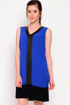 Koton Deri Detaylı Saks Mavi Elbise(113946845)