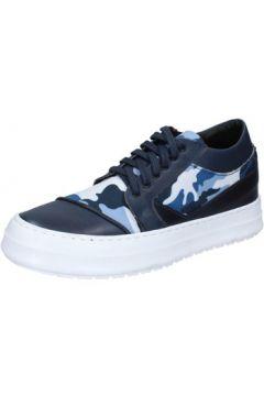 Baskets Fdf Shoes sneakers bleu cuir textile BZ377(115398942)