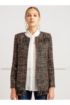 Brown - Multi - Jacket - NG Style(110341168)