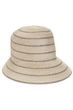 Eric Javits Kadın Bej Kahverengi Şeritli Dokulu Şapka EU(114438740)